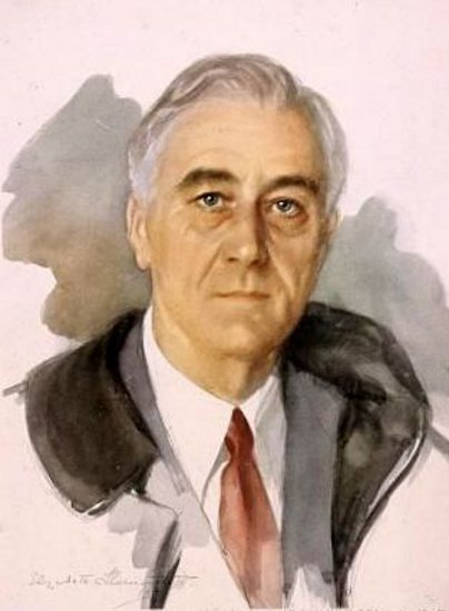 Franklin D. Roosevelt (unfinished portrait)