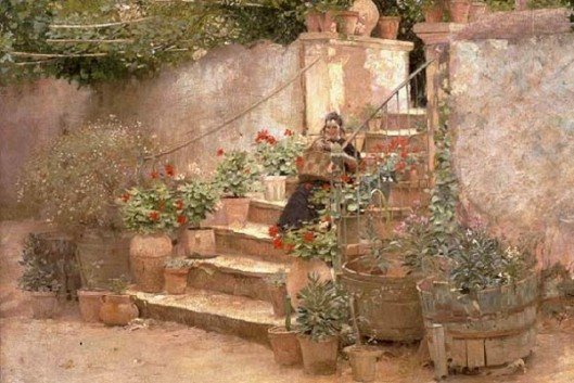 Garden Steps In Southern France