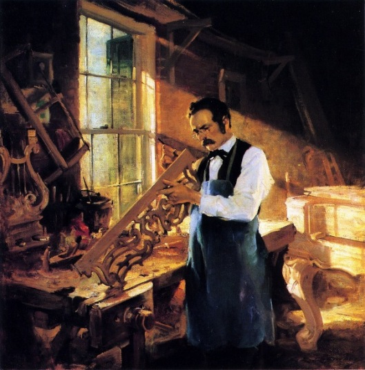 Henry Engelhard Steinway At His Workbench