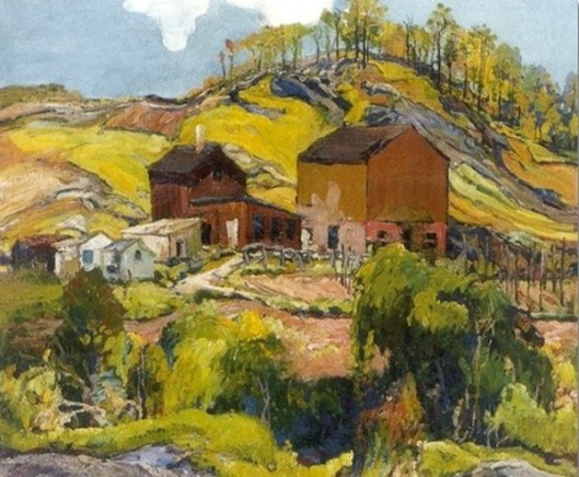 Hilly Landscapes With Houses