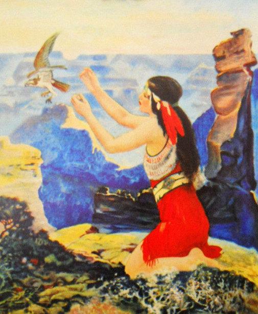 Maiden On Bluffs Freeing A Bird Of Prey