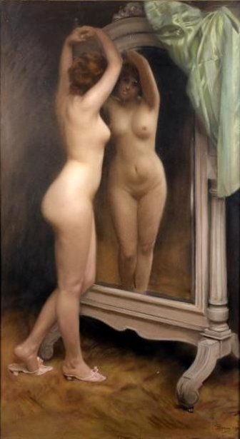Nude At The Mirror