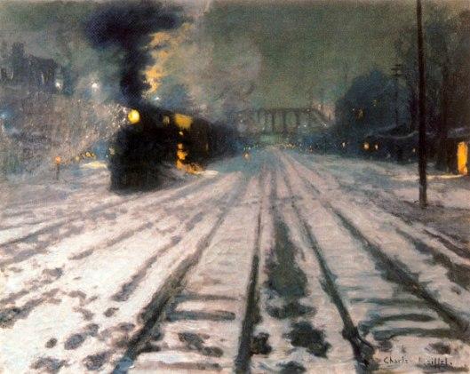 Railway Yards - Winter Evening