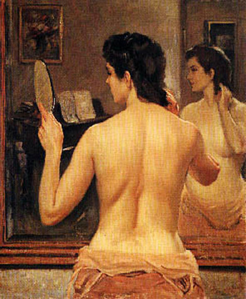 Reflection - Semi-Nude Back