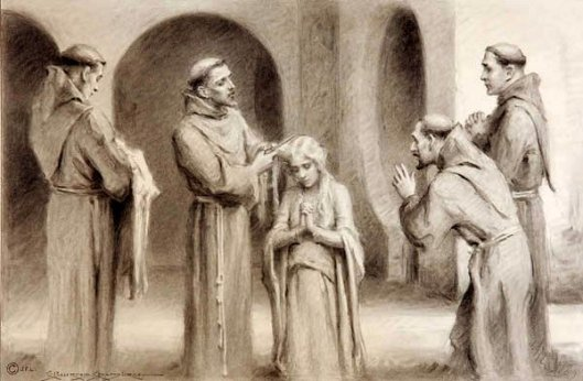 St. Francis Receiving St. Clare