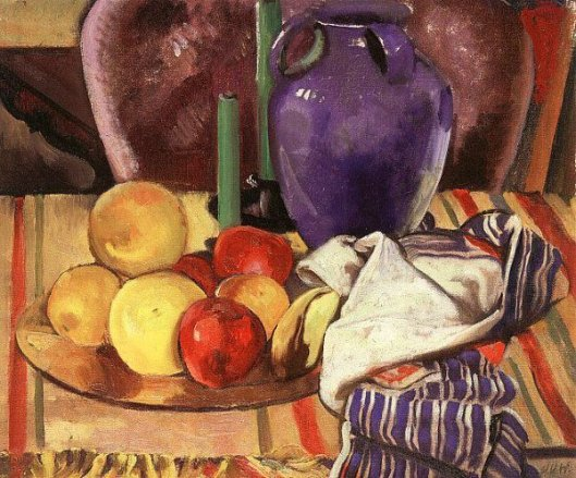Still Life With Fruit And Candles