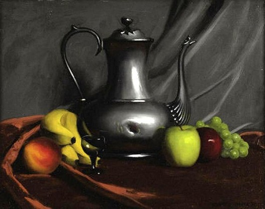 Still Life With Fruit And Teapot
