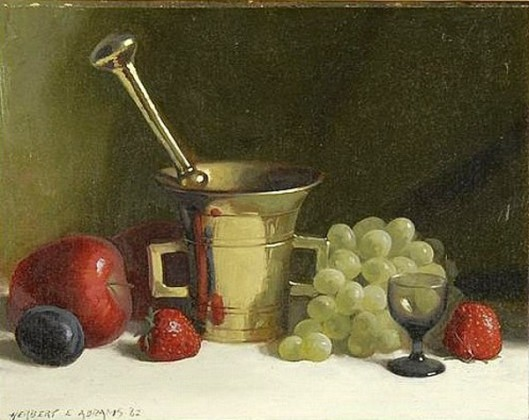 Still Life With Mortar, Pestle And Fruit