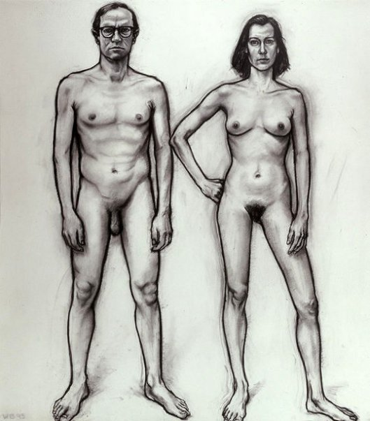 Study For Red Painting (Man And Woman)