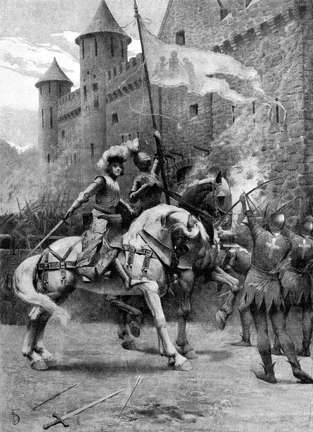 The Capture Of The Tourelles (illustration from Mark Twain's Personal Recollections of Joan of Arc)