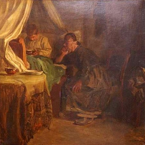 Woman At Child's Bedside - The Favorite Grandchild