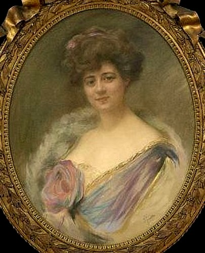 Woman In A Lavender Dress