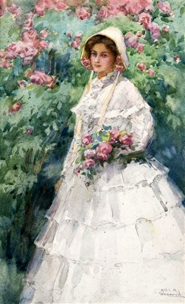 Girl In The Garden