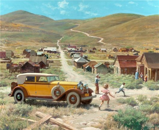 Gold Ghost Town, Bodie, California: 1932 Lincoln Convertible