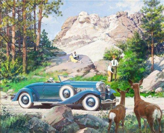 Mt. Rushmore, Black Hills, South Dakota: 1936 Duesenberg Model JN
