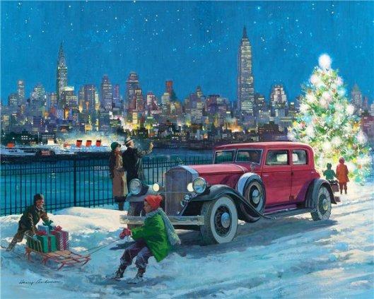 New York Skyline: 1931 Pierce-Arrow