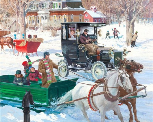 The Sound Of Sleigh Bells: 1906 Reo Depot Wagon