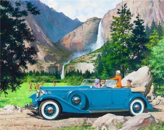 Yosemite Falls: 1933 Packard