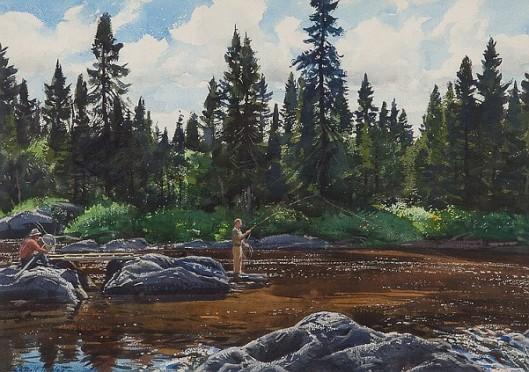 Fishing A Rocky River