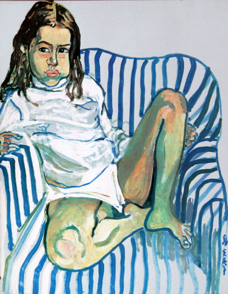 Girl In Blue Chair