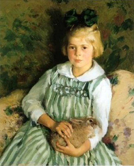 Girl With A Rabbit