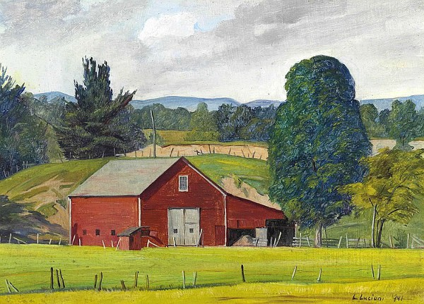 Luigi lucioni 1900 1988 american gallery 20th century for New england barns for sale
