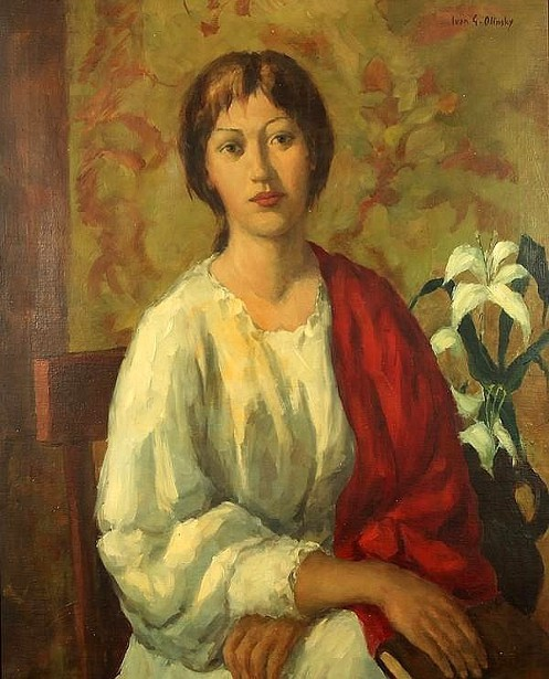 Seated Woman With A Red Shawl