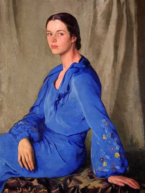 Tosca In Blue (The Artist's Daughter)