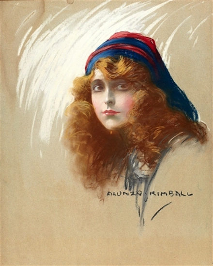Woman With Flowing Hair