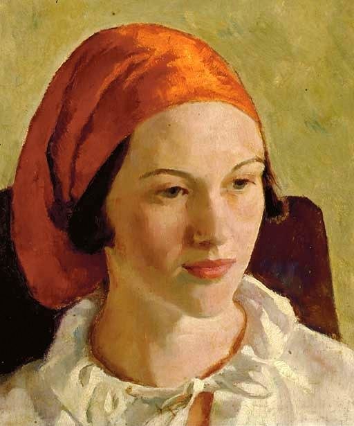 Woman With Red Headscarf