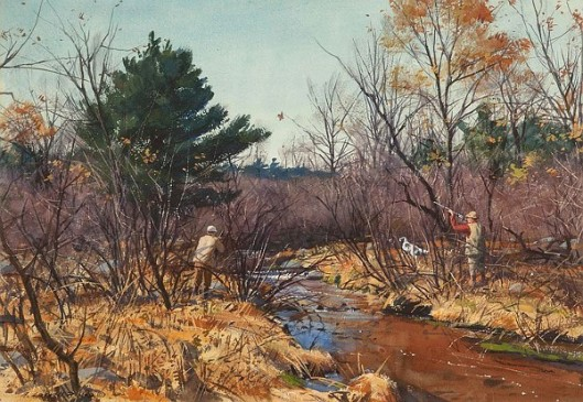 Woodcock Along The Brook