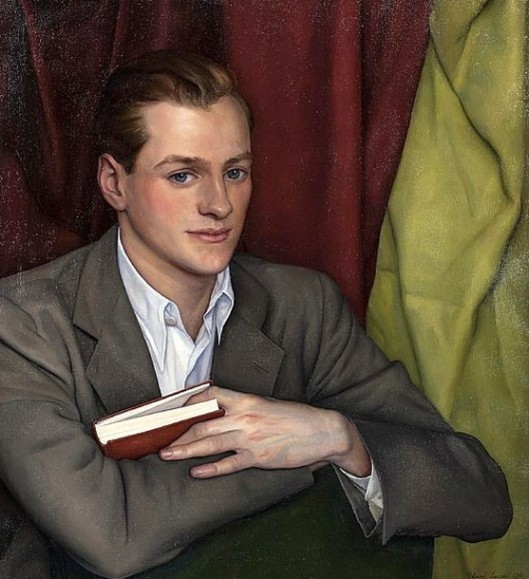 Young Man Holding A Red Book