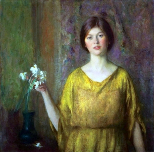 Young Woman In Yellow