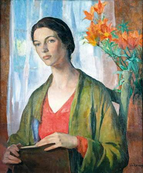Young Woman With Lilies