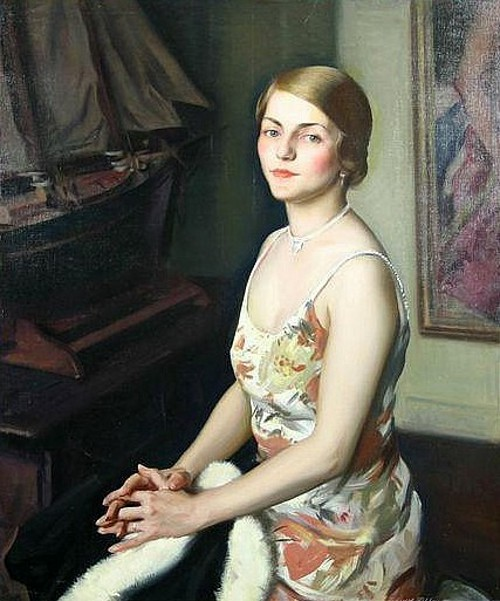 A Young Woman In Silk Dress