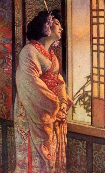 Blanche Bates in Madame Butterfly