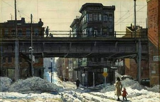 Boston Street Scene In Winter