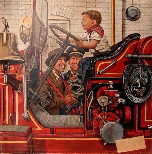 Boy On Fire Truck