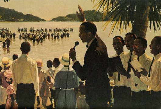 Earl E. Cleveland Baptizing Converts In Trinidad