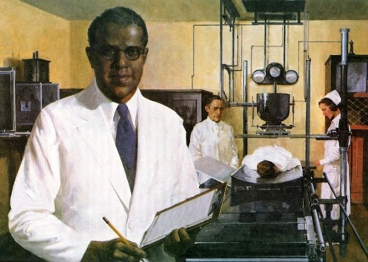 Harry Ford In The X-Ray Laboratory In Hinsdale Sanitarium And Hospital