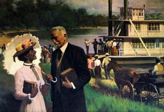 James Edson White Greets Visitors To The Morning Star Near Vicksburg, Mississippi
