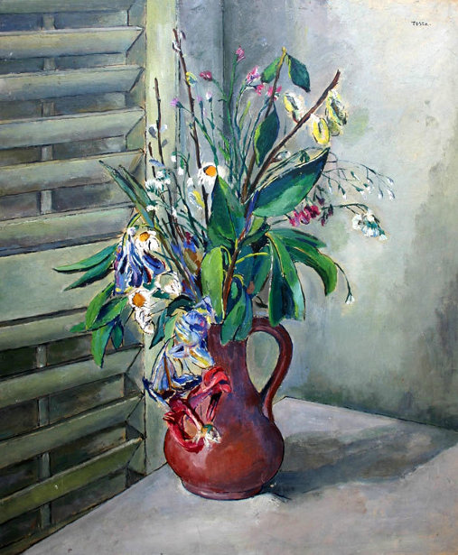 Still Life Of Flowers In Vase