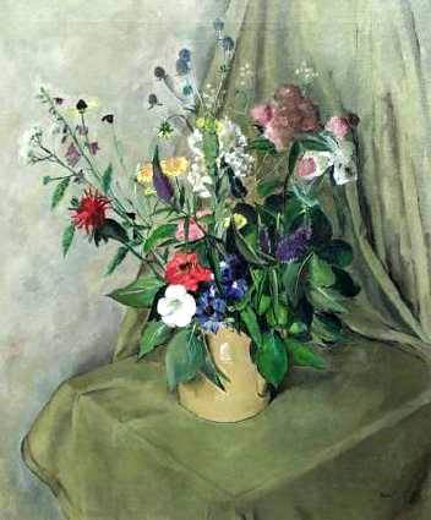 Still Life With Wildflowers - Elaborate Floral Tabletop