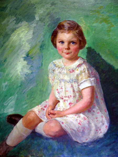 Child In White - Young Girl With Blue Eyes