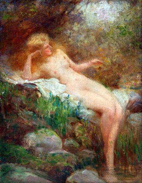 Nude By A Stream