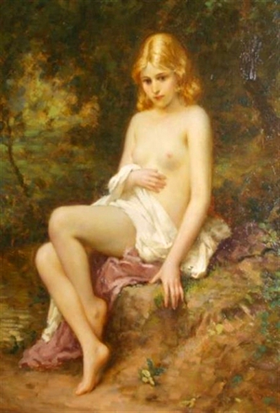 Nude In A Wooded Landscape