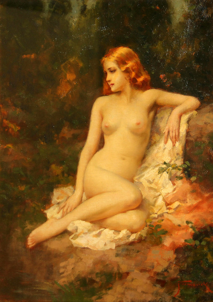 Nude In A Woodland Setting