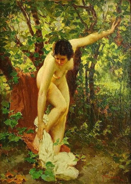Nude In Wooded Landscape
