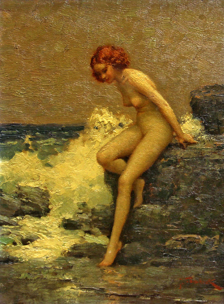 Nude On A Rocky Coast