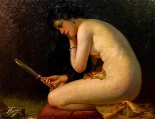 Nude With A Hand Mirror